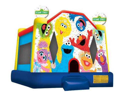 Sesame Street Bouncy Castle Hire Perth